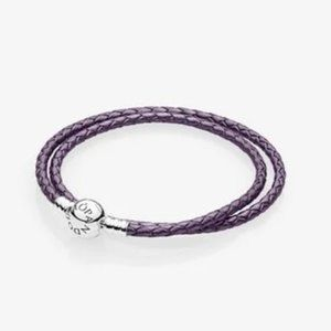 ✨ NWT Pandora Leather Wrap Bracelet | Purple